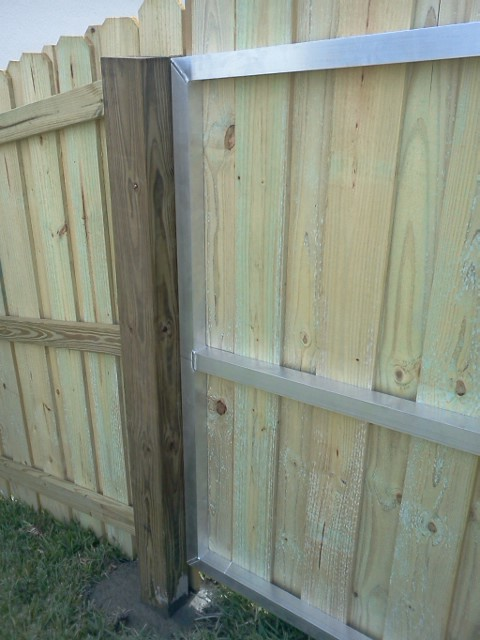 Custom Aluminum Frame For Wood Gates