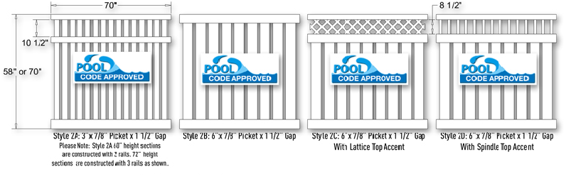 Vinyl Fence Semi Private Styles